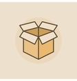 Open box flat icon vector image