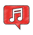 speech bubble with music note icon vector image