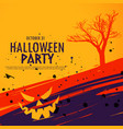 happy halloween celebration background in grunge vector image