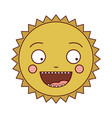 color silhouette of caricature of the sun smiling vector image