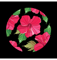 Floral pattern with hibiscus vector image vector image