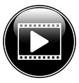 Film strip with play icon vector image vector image