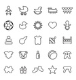 25 outline universal baby kids icons vector image