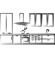 Simple of kitchen furniture vector image