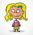 Blonde Girl vector image