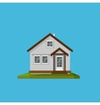 a cartoon house in in flat polygonal style vector image