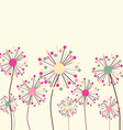 Flower Background in Pastel Colors vector image