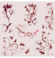 set of ornaments vector image