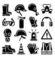Personal protective equipment icons set vector image