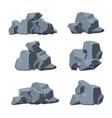 Cartoon stones set vector image