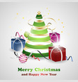 christmas and new year greeting card background vector image