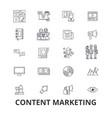 content marketing social media management vector image