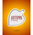 Cut out autumn leaf frame vector image