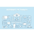 Line style design concept of internet of things vector image