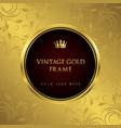 luxury golden vintage frame and background vector image
