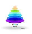 Multicolor abstract logo triangle vector image
