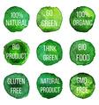 natural organic badges and labels vector image