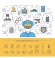 Police Line Composition vector image