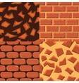 seamless textureof bricks and ground vector image