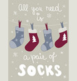 winter poster clothes postcard season lettering vector image