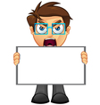 Business Man Blank Sign 1 vector image vector image