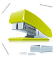 Stapler and staples vector image vector image