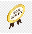 label high quality isometric icon vector image