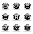 Glossy icon set 32 vector image vector image