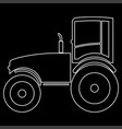 tractor the white path icon vector image