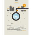 infographics circuit supplies load on the tractor vector image vector image
