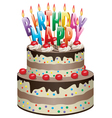 birthday chocolate cake vector image vector image