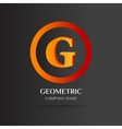 G Letter logo abstract design vector image