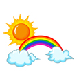 sunrainbow and cloud vector image