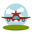 airplane flight transport icon vector image