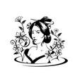 asian woman art vector image
