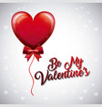 be my valentines balloon heart fly bow decoration vector image