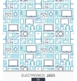 Home Electronics wallpaper Digital shop seamless vector image