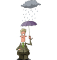 man under an umbrella vector image