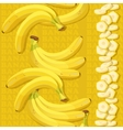 Seamless texture with ripe banana and slices vector image