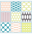 Set of elegant polka dot patterns vector image