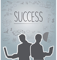 Silhouette people of Business vector image
