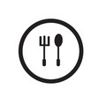 simple silhouette logo spoon and fork icons vector image
