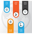 tourism icons set collection of travel direction vector image