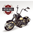 Chopper customized motorcycle vector image