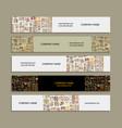 banners design ethnic handmade ornament vector image vector image