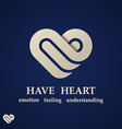 abstract heart symbol design template vector image