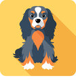 dog Cavalier King Charles Spaniel sitting icon fla vector image