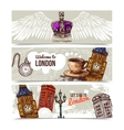 London Horizontal Banners vector image