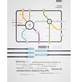 infographics subway in the old style vector image vector image