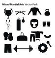Mix Martial Arts Icons Set vector image